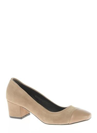 Süet Kısa Topuklu Ayakkabı-Bambi